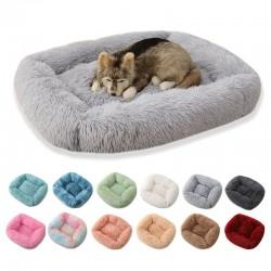 Cama cuadrada para mascotas - colchoneta de felpa para dormir - perros - gatos