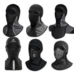 Máscara de esquí de lana térmica de invierno - capucha con bufanda - pasamontañas deportivo - a prueba de viento - impermeable