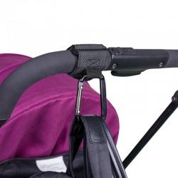 Baby stroller hooks - aluminum alloy carabiner - 2 pieces