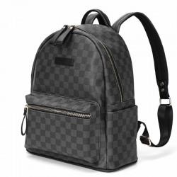 POLO - sac à dos en cuir vintage - design à carreaux