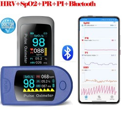 SpO2 PR PI HRV - Bluetooth - fingertip pulse oximeter - blood oxygen saturation monitor & heart rate variability