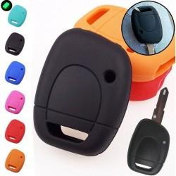 Silikon-Autoschlüsselhülle - Renault - Clio - Kangoo - Master - Twingo - 1 Knopf