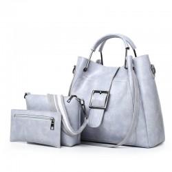 Elegante Lederhandtasche - Umhängetasche - kleine Handtasche - 3-teiliges Set