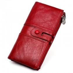 Lange Brieftasche mit Reißverschluss - echtes Leder