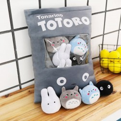 Totoro pillow toy - with 4pcs totoro characters