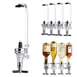 An der Wand montierter Wein- / Bier- / Wodka-Spender - Reihe mit 4 Flaschen - 25 ml - 30 ml - 45 ml