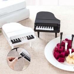 Tenedores para frutas / snacks en forma de piano - palillos - 9 piezas