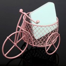Vintage tricycle - iron bicycle with basket - storage container - home decoration