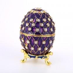 Colorful enamel egg - metal alloy - Easter Day decoration