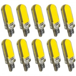 T10 - W5W - silicone case - COB LED bulbs - 10 pieces