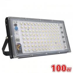 100W - AC 220V 230V 240V - Proyector LED - IP65 estanco - reflector exterior