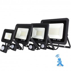 10W - 20W - 30W - 50W - Proyector LED - Sensor de movimiento - Reflector impermeable para exteriores