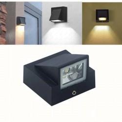 5W - Innen- / Außen-LED-Wandleuchte - Aluminiumlampe - IP65 wasserdicht