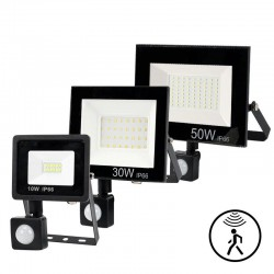 LED flood light - outdoor reflector - PIR motion sensor - waterproof - 10W - 20W - 30W - 50W - 100W