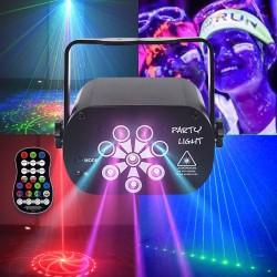 RGB - LED - Disco / Party Licht - Mini Laser Projektor - USB