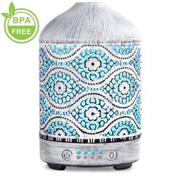 Aroma humidifier - essential oil metal diffusers - 100mL
