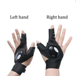 Car repair gloves - with flashlight