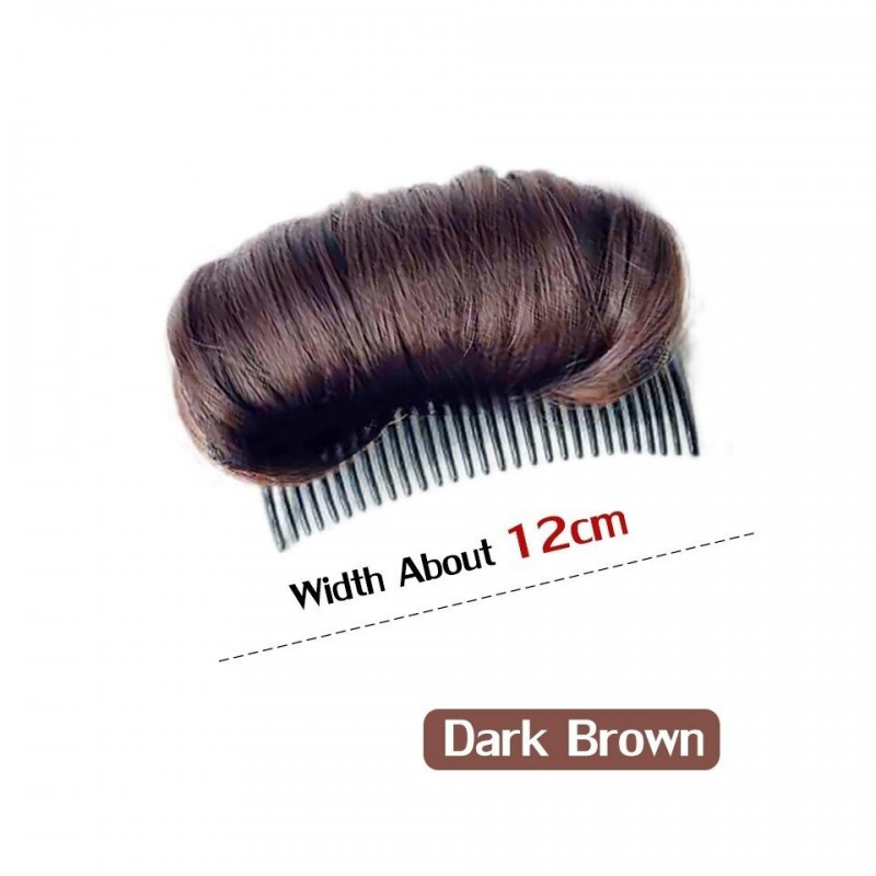 Synthetic hair - invisible volumising pad - comb with wig