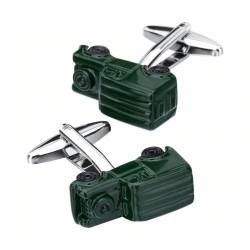 Grünes Automodell - Manschettenknöpfe - 2 Stück