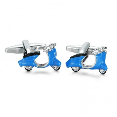 Enamel scooter - cufflinks - 2 pieces