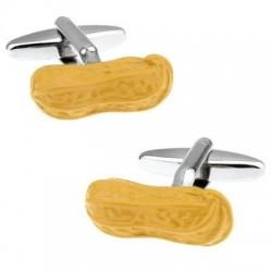 Gelbe Erdnüsse - Manschettenknöpfe - 2 Stuck