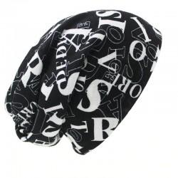 Multifunktionale Mütze - Schal - Design mit Buchstaben-Unisex