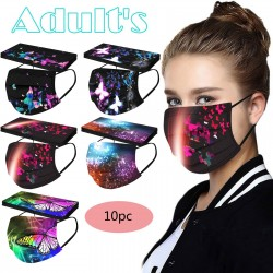 Butterfly print - adult face masks - 10pcs - unisex