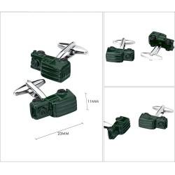 Green car model - cufflinks - 2 pieces