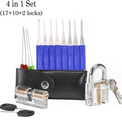 Transparent lock pin set - locksmith supply kit
