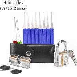 Transparent lock pin set - locksmith supply kit