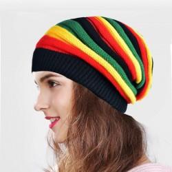 Gestrickte bunte Mütze - Reggae-Stil
