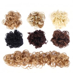 Elastic scrunchie - curly synthetic hair - bun - ponytail - hair extension
