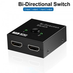 4K HDMI-Schalter - Bidirektion - 1 bis 2 Splitter - 2 in 1 Out-Adapter - für PS3 PS4 Xbox HDTV
