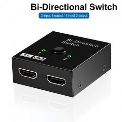 Przełącznik 4K HDMI - dwukierunkowy - rozdzielacz 1 do 2 - adapter wyjścia 2 w 1 - dla PS3 PS4 Xbox HDTV