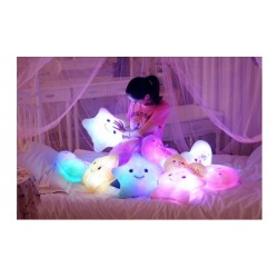 Led Ster Kussen Pluche Knuffel Lamp 36cm