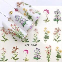 Nail art stickers - water transfer - creative designs - flower - fairy