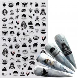 Nail art sticker with cute cartoon designs
