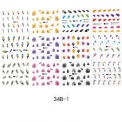 Nail Art Aufkleber mit Federn - 12 Stück