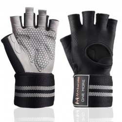 Weight lifting gloves - silicone grip - cross-fit - sports