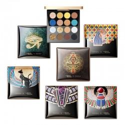 Ägyptischer Stil - Lidschatten-Palette - holographisch - glänzendes / mattes / glitzerndes Pigment - 16 Farben