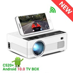 C520 HD 150 Zoll - LED - Video - Miniprojektor - Android 10 TV Box - 1080P 3D 4K
