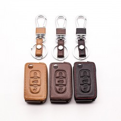 Car leather key cover - Peugeot - Citroen