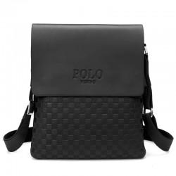 POLO - leather crossbody / shoulder bag - plaid design