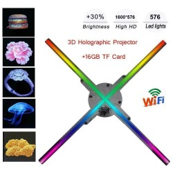 3D hologram projector - display - fan blades - 576 LED - WiFi / PC control - 56 cm