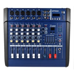 6 channels - 48V - 150W amplifier - mixer console - USB/ SD