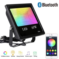 60W - Bluetooth - RGB - LED floodlight - outdoor reflector with music