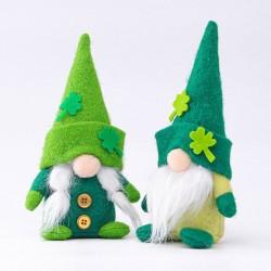 Fête de la Saint-Patrick - nain en peluche - jouet - 2 pièces
