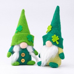 St. Patrick's Day - plush dwarf - toy - 2 pieces