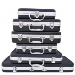 Aluminum tool box - portable suitcase - storage box - with sponge lining