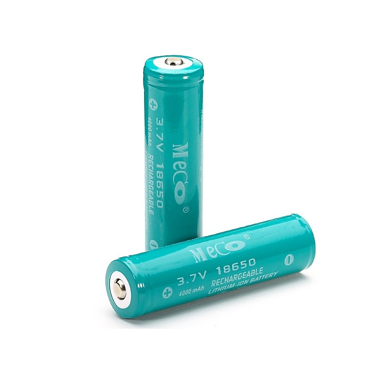 MECO 3.7v 4000mAh Rechargeable 18650 Li-ion Battery 2pc